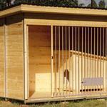 Строительство вольеров для собак из натурального дерева от производства под ключ