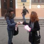 Раздача листовок в Одессе