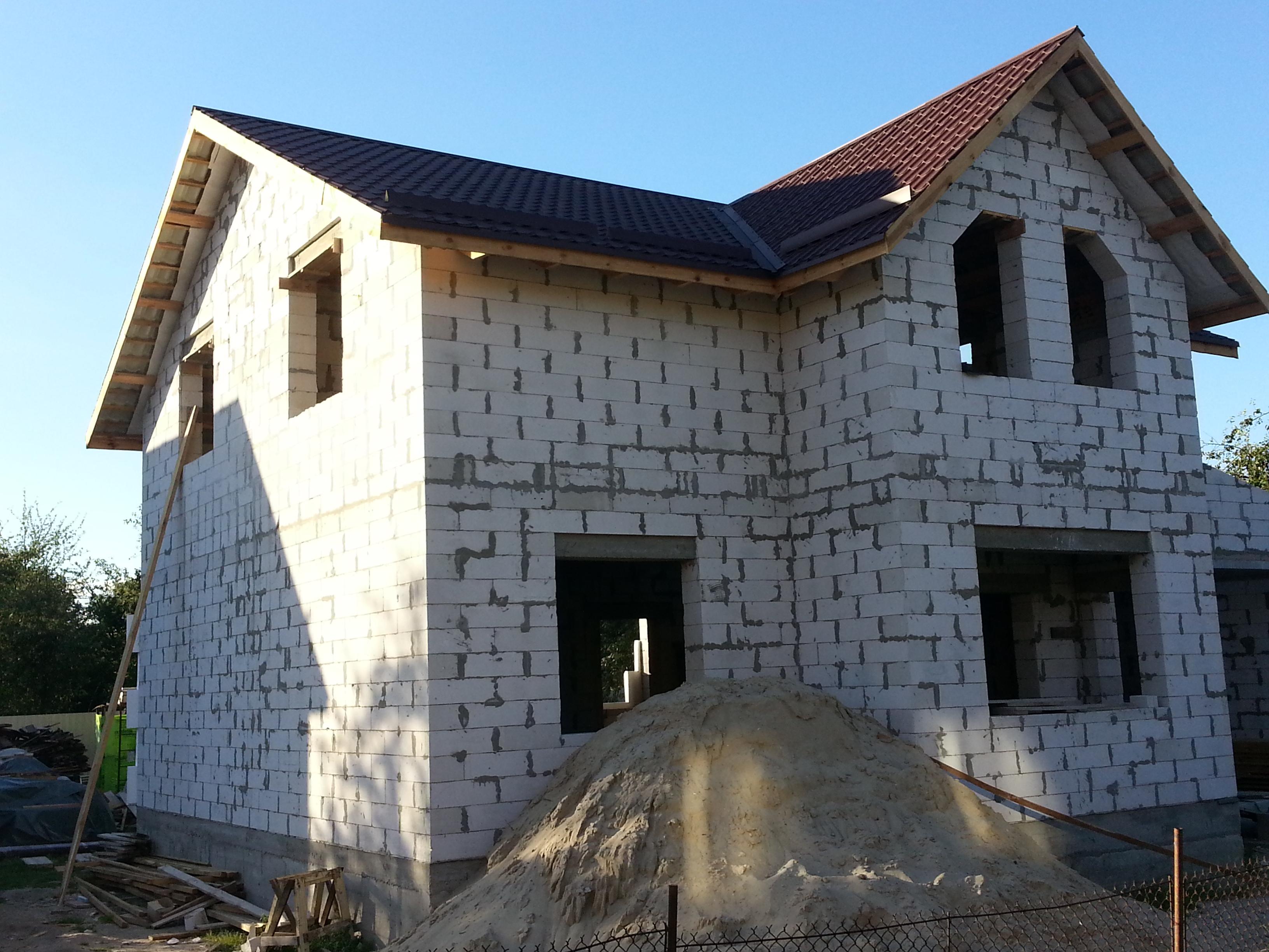 варианты домов из газосиликатных блоков фото красиво