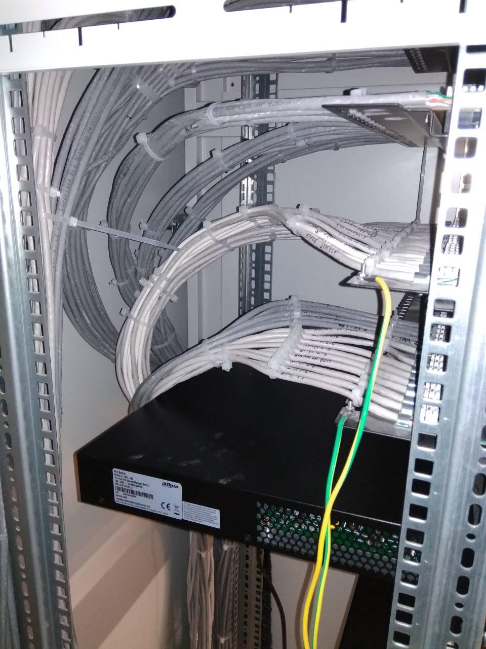 Фото Організація прокладки лан кабелю без кабельного менеджера