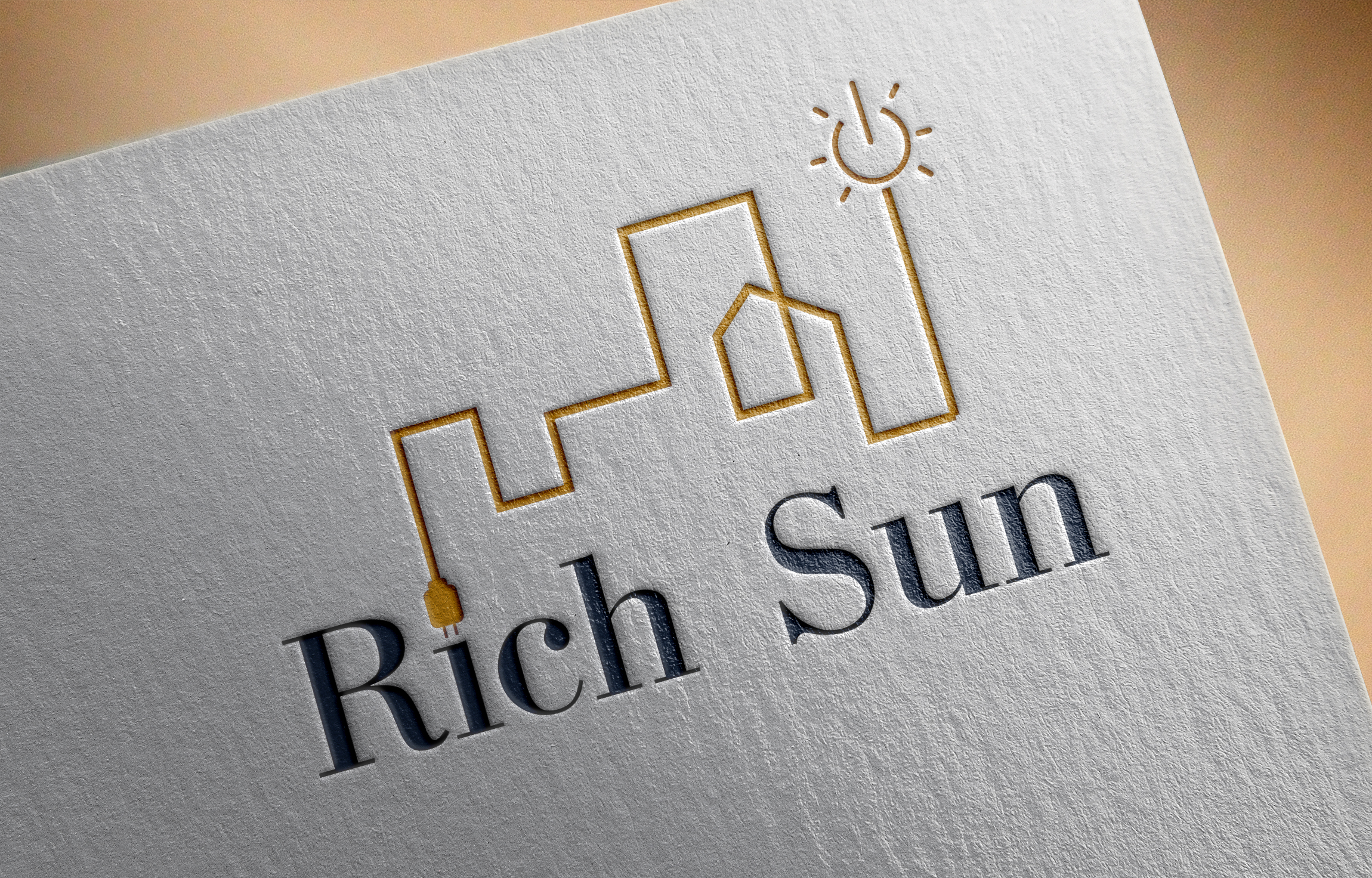 """Фото Логотип для украинской компании, которая занимается монтажом солнечных электростанции под ключ """"Rich Sun"""""""