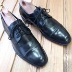 Покраска обуви из гладкой кожи