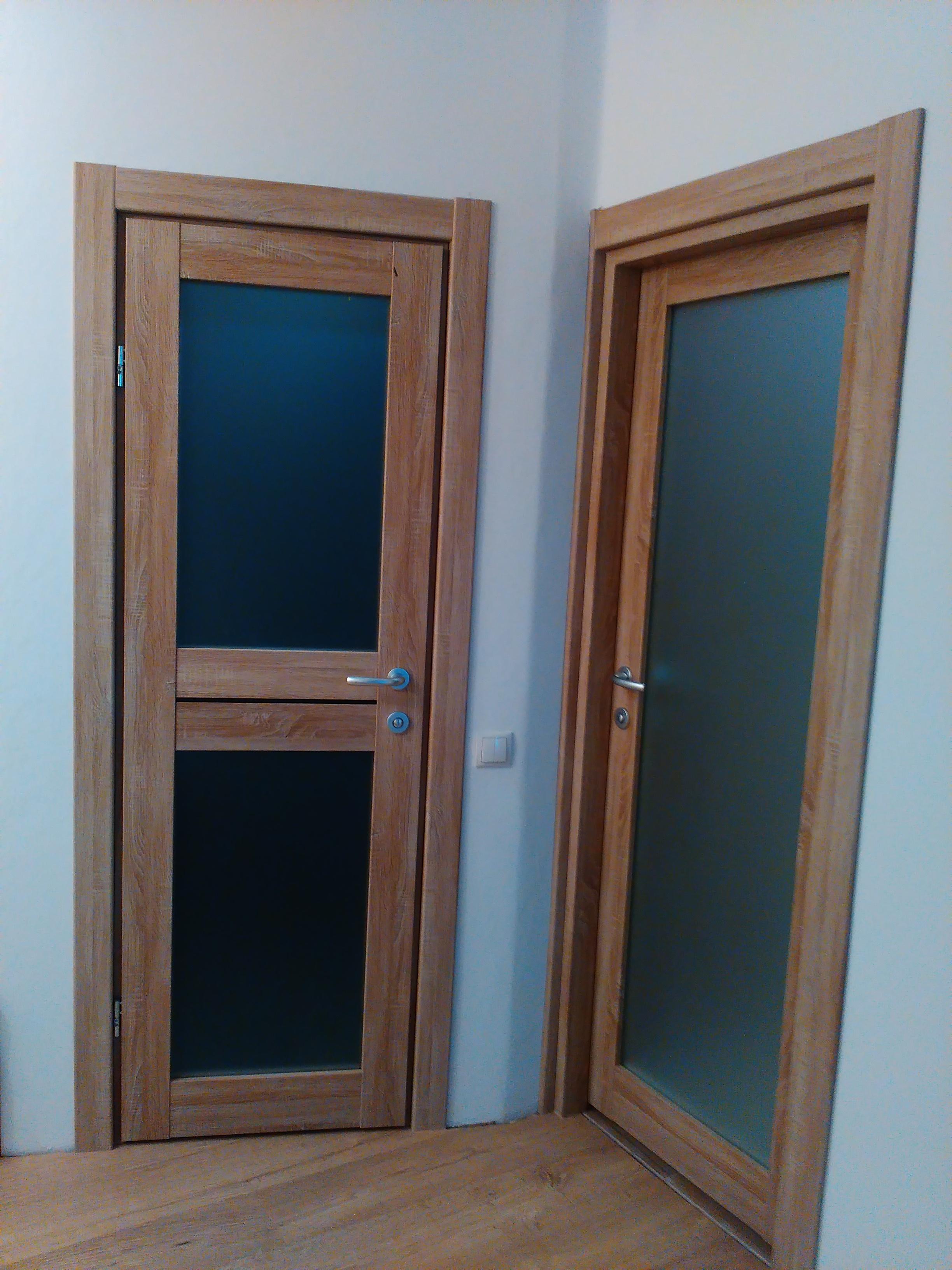Фото Установка двух межкомнатных дверей