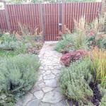 Работа в саду, с цветами, декоративными, плодовыми.