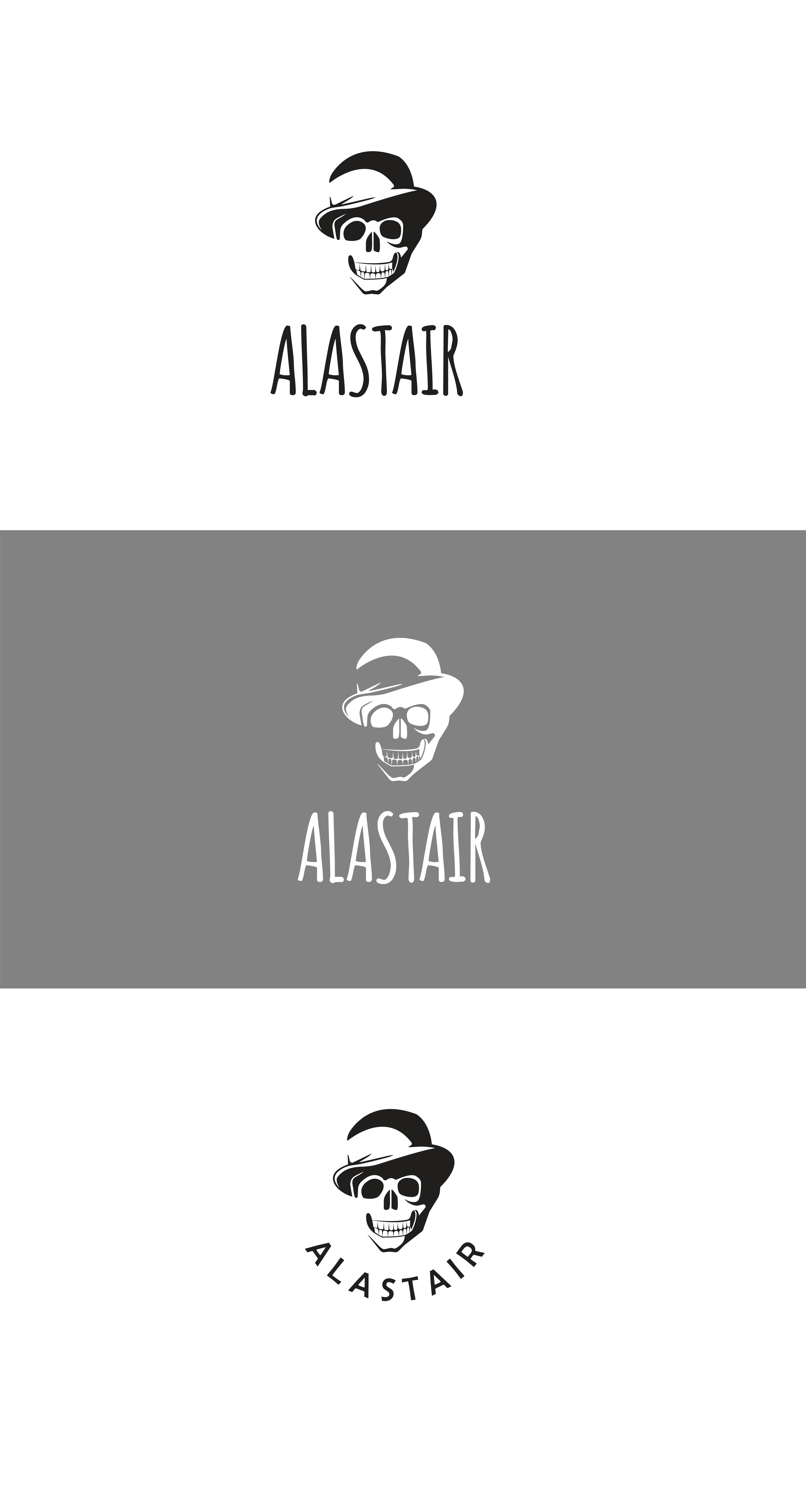 Фото Разработка дизайна логотипа для интернет-магазина рок-атрибутики «Alastair» Вариант 6