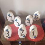 Изготовлю номерочки на столы для свадьбы из дерева