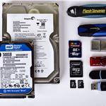Восстановление данных с жесткого диска, внешних носителей.