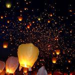 Небесные фонарики желаний, небесні ліхтарики, повітряні ліхтарики