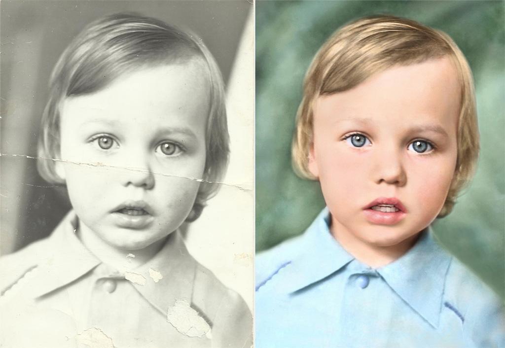 Восстановление старых фото из чб в цветное