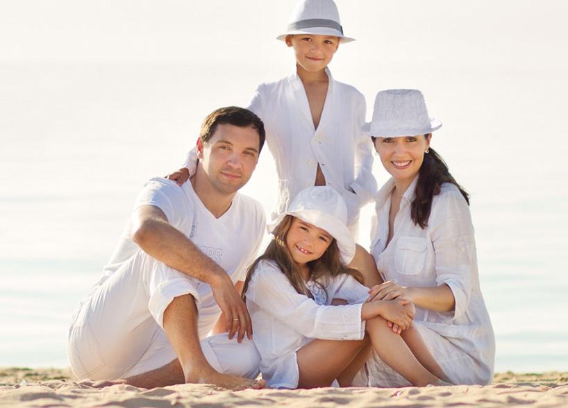 Фото Семейная, постановочная фотосъёмка на берегу Днепра + аккуратная ретушь в Photoshop.