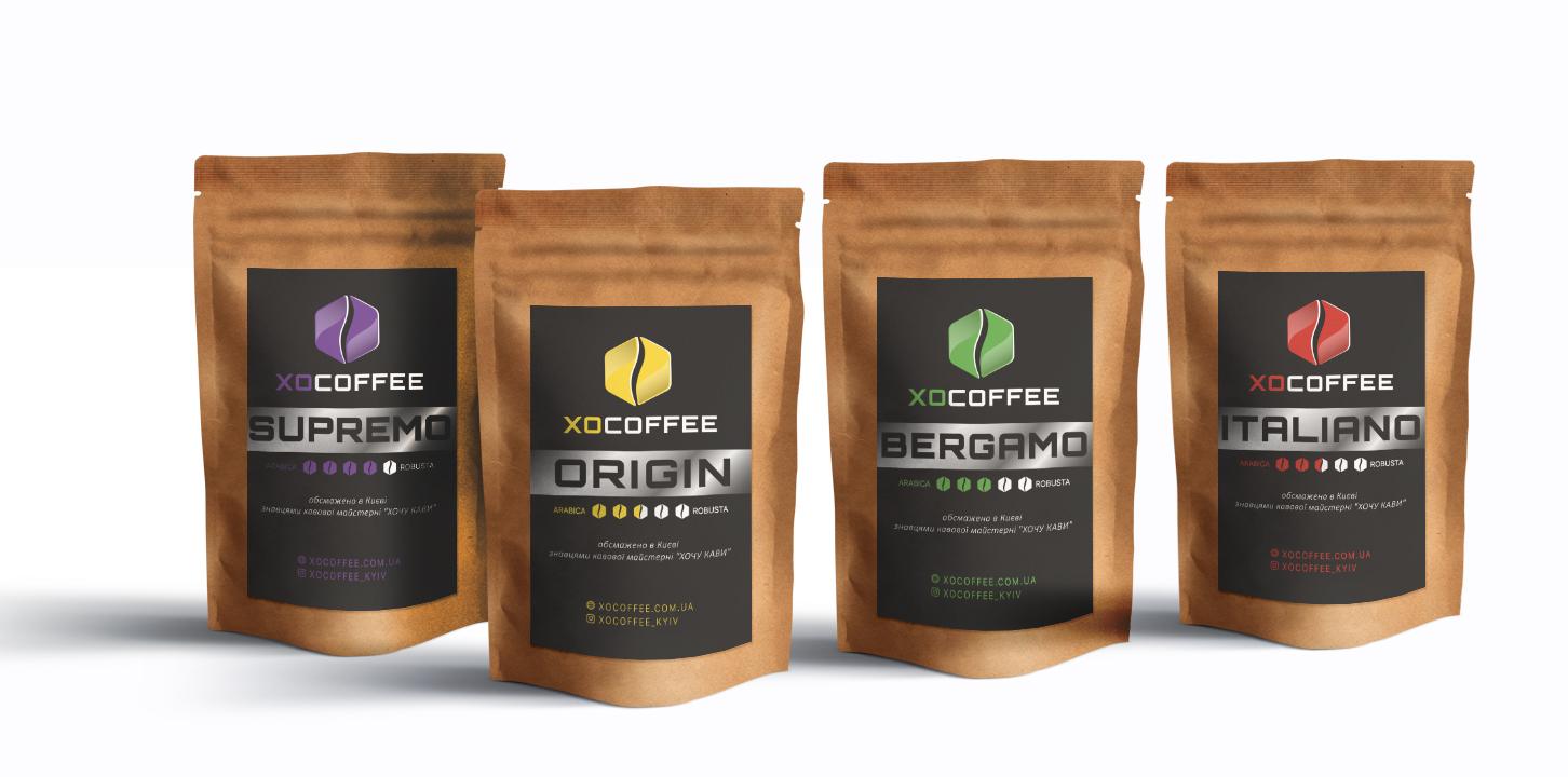 Фото Дизайн етикетки для кави
