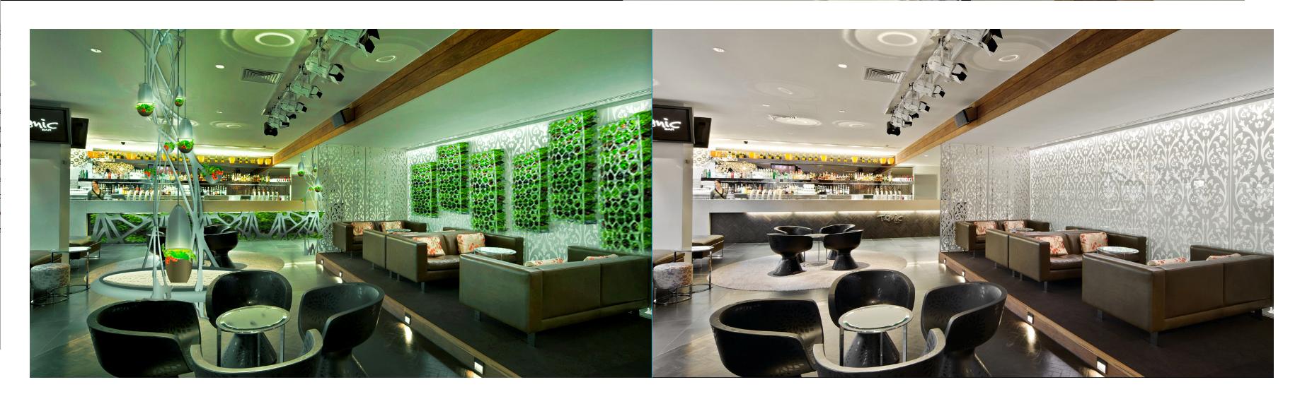 Фото Дизайн размещения элементов аэропоники в ресторанах.
