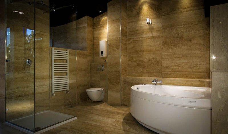 Фото Укладка плитки в ванной 1