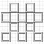 Шкафы перегородки из отдельных модулей разных размеров и форм.