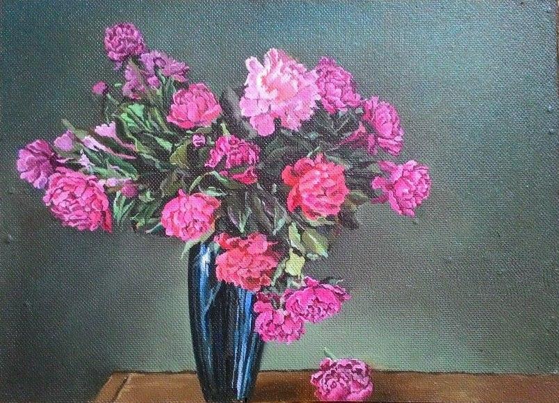 Фото Квіти масляними фарбами. 7-10 днів.