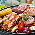 Приготовлю мясо и овощи-гриль