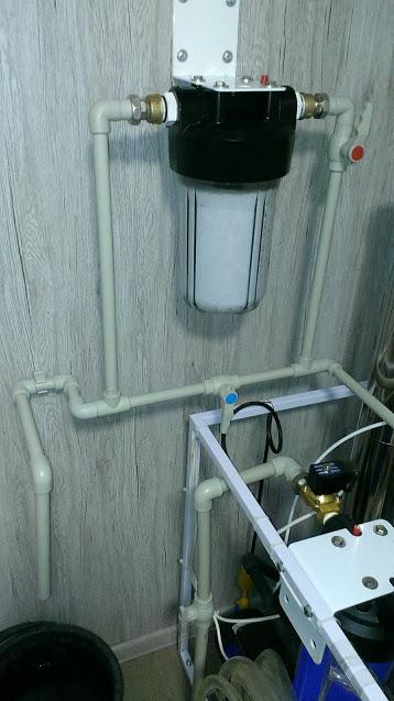 Фото Установка магистрального фильтра для очистки воды. Время исполнения 1-2 часа.