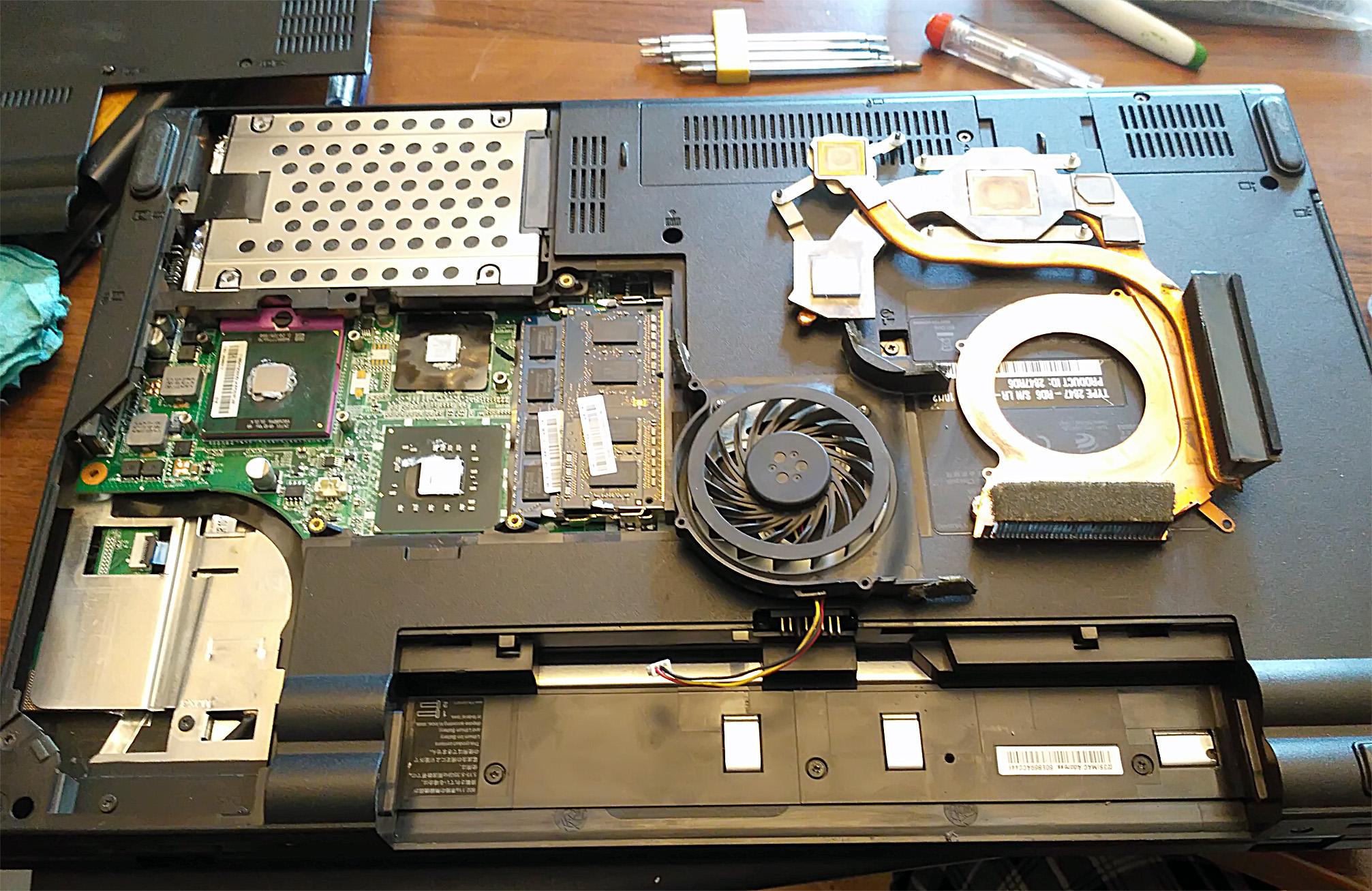 Фото Чистка ноутбуков и компьютеров от пыли 1