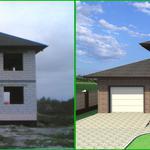 Дизайн фасада дома 70 грн./м.кв (дизайн-проект экстерьера).