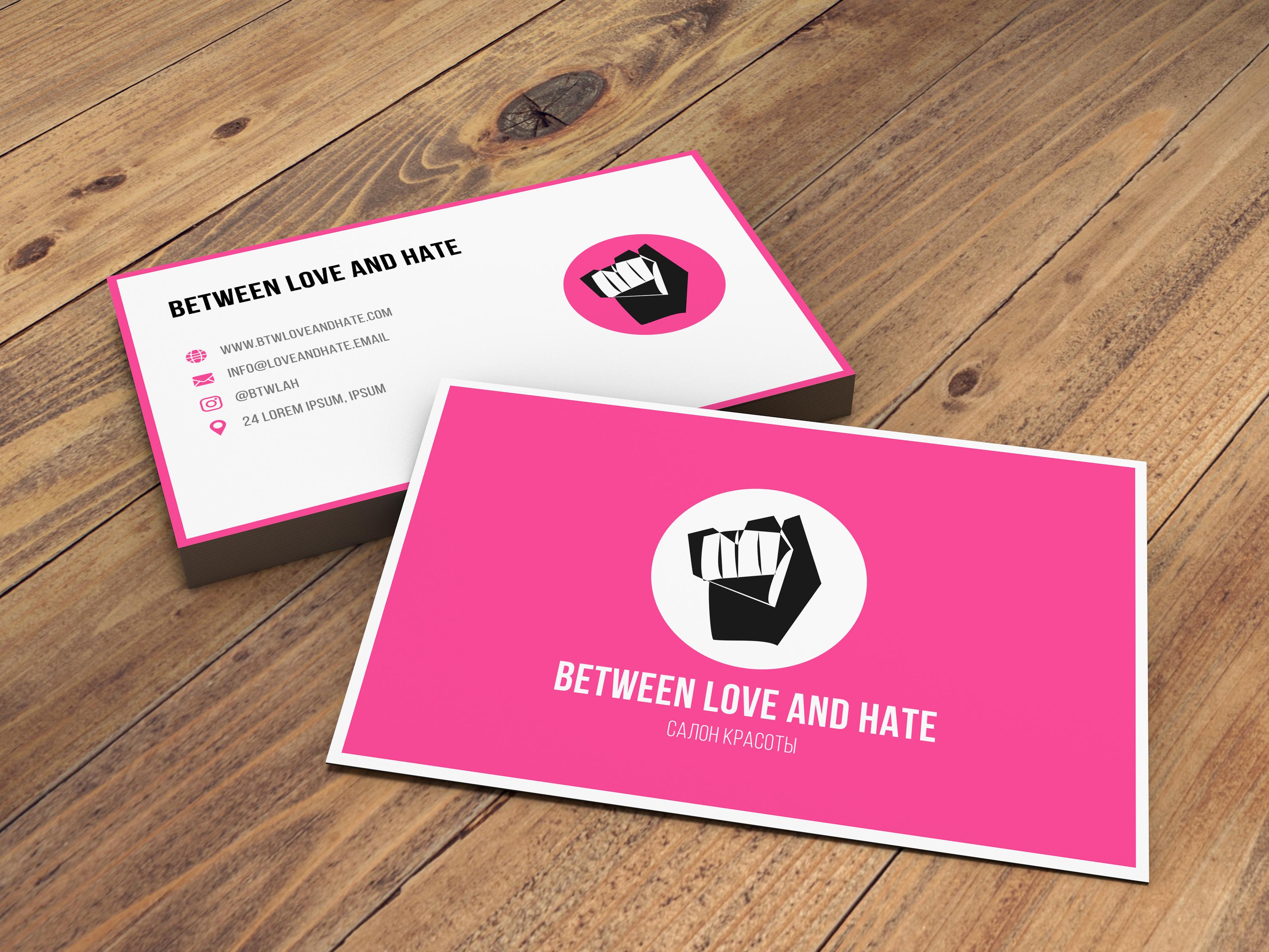 Фото Дизайн визитной карточки.