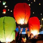Якісні небесні ліхтарики СЕРЦЕ, КУПОЛ, небесные фонарики желаний, паперові ліхтарики бажань, китайські повітряні ліхтарі