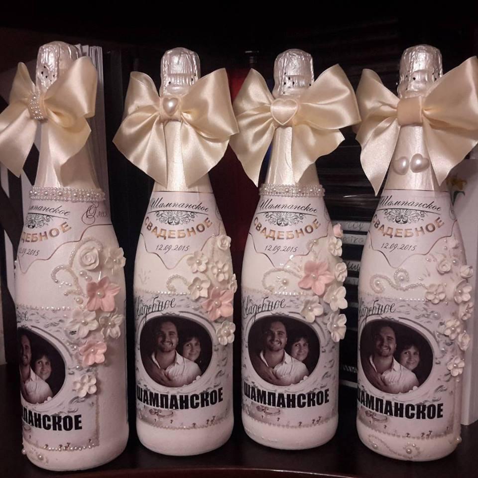 Фото Свадебное Шампанское. Декор бутылок