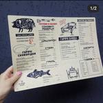 Разработка макета меню для ресторанов, кафе, баров.