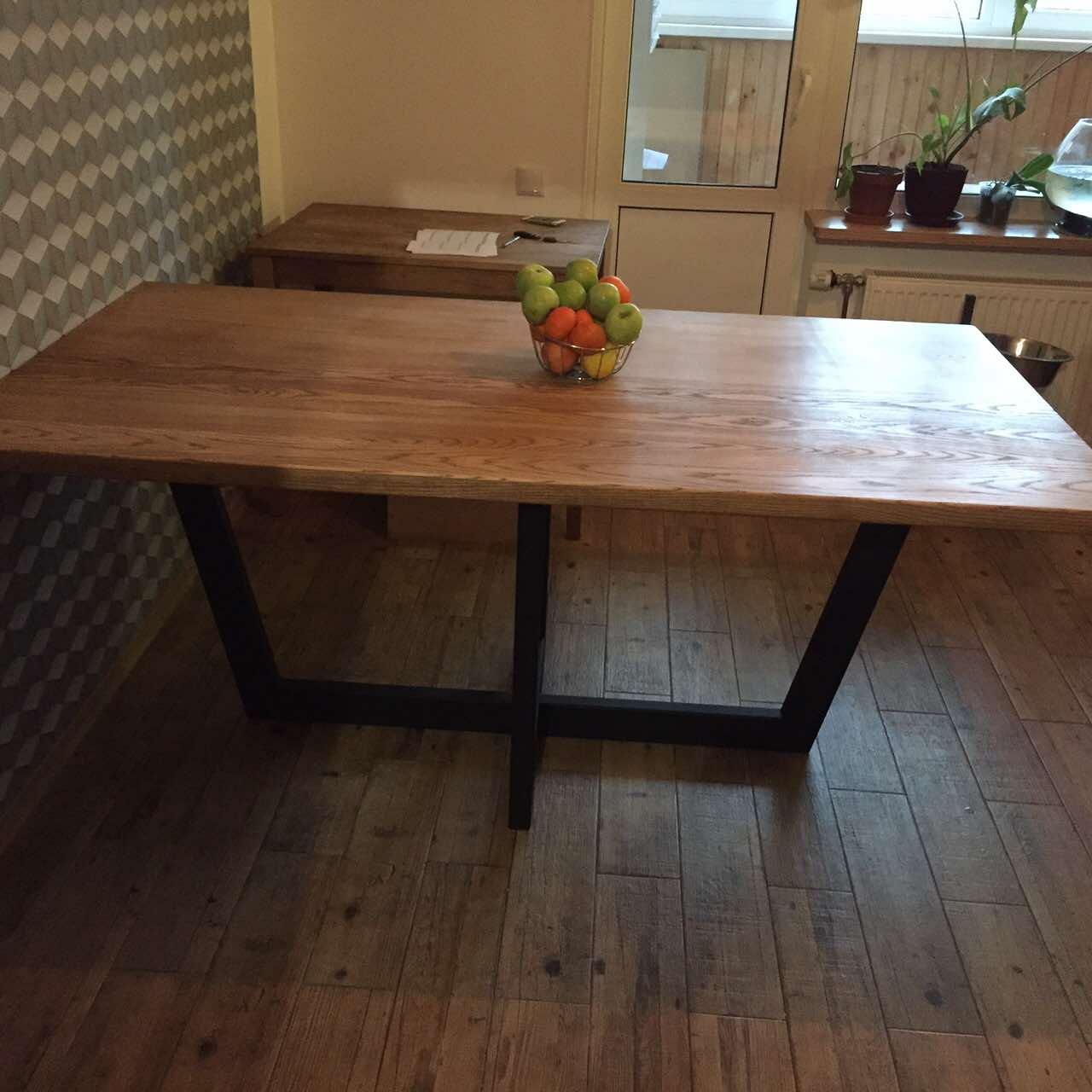 Фото виготовлення стола в стилі лофт. розміри 1 800 на 1 200