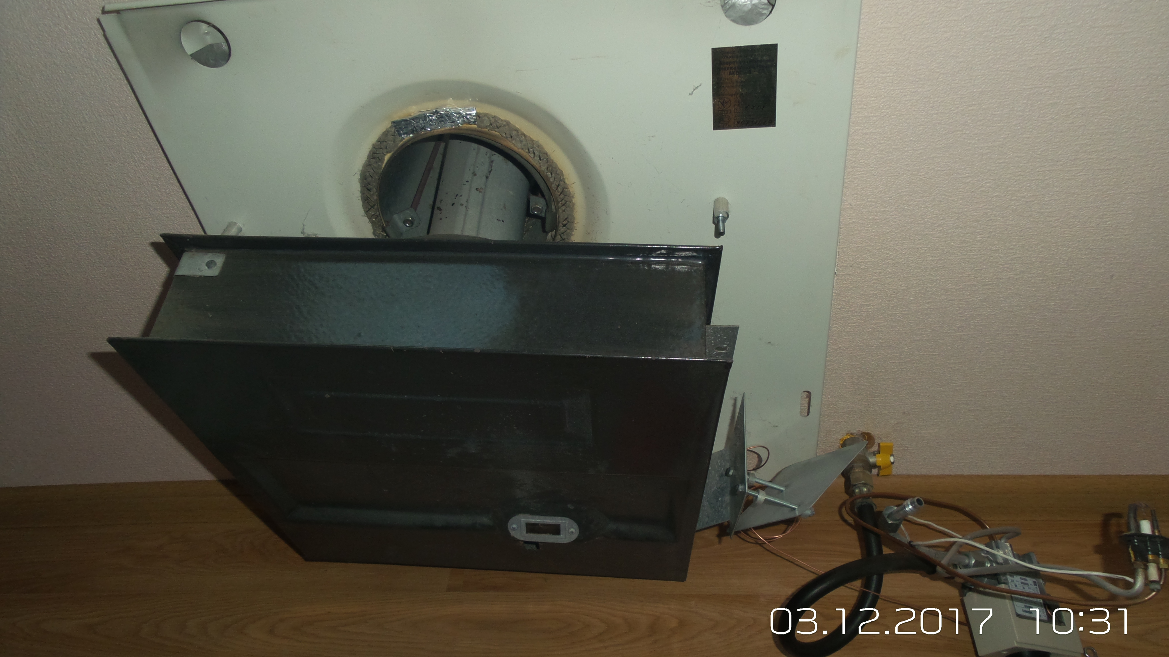 Фото чистка и замена автоматики конвектора