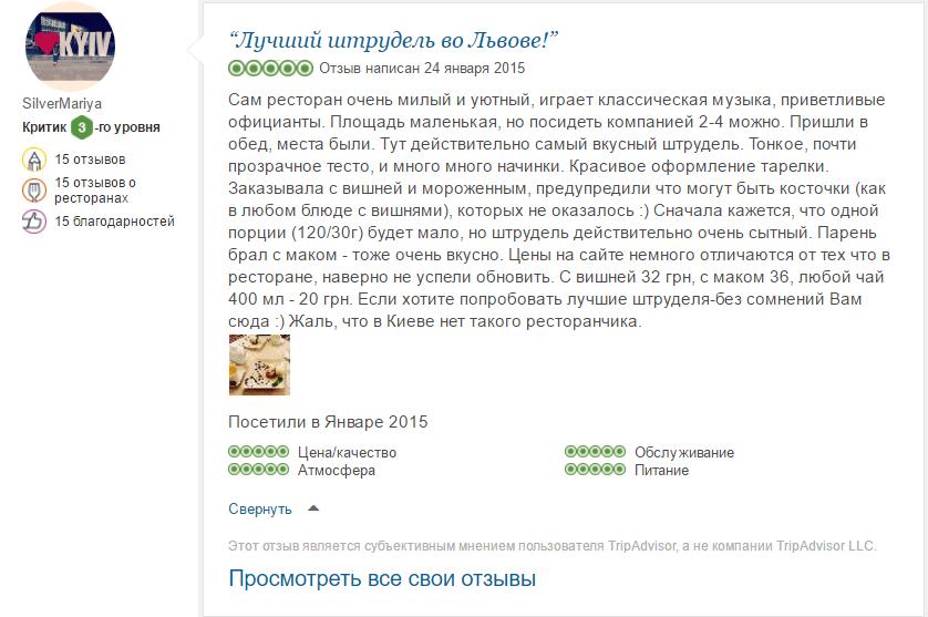 Фото Написание отзывов для ресторанов/кафе на TripAdvisor.ru