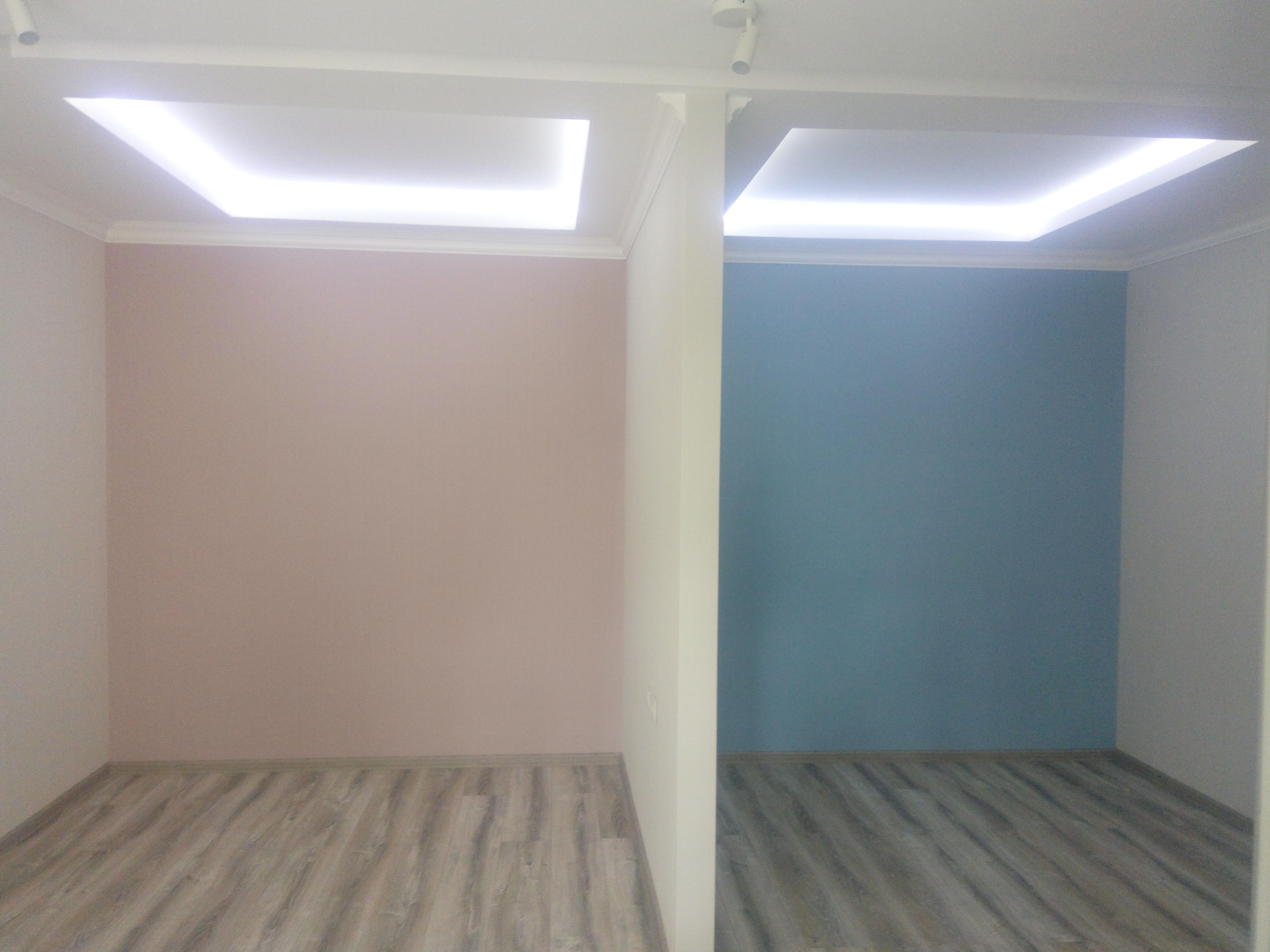 Фото Стяжка, монтаж электрики, штукатурка, шпаклевка, укладка ламината, покраска стен, перегородки и потолки из гипсокартона.