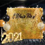 Новогодняя фотозона Живая паетка ретро