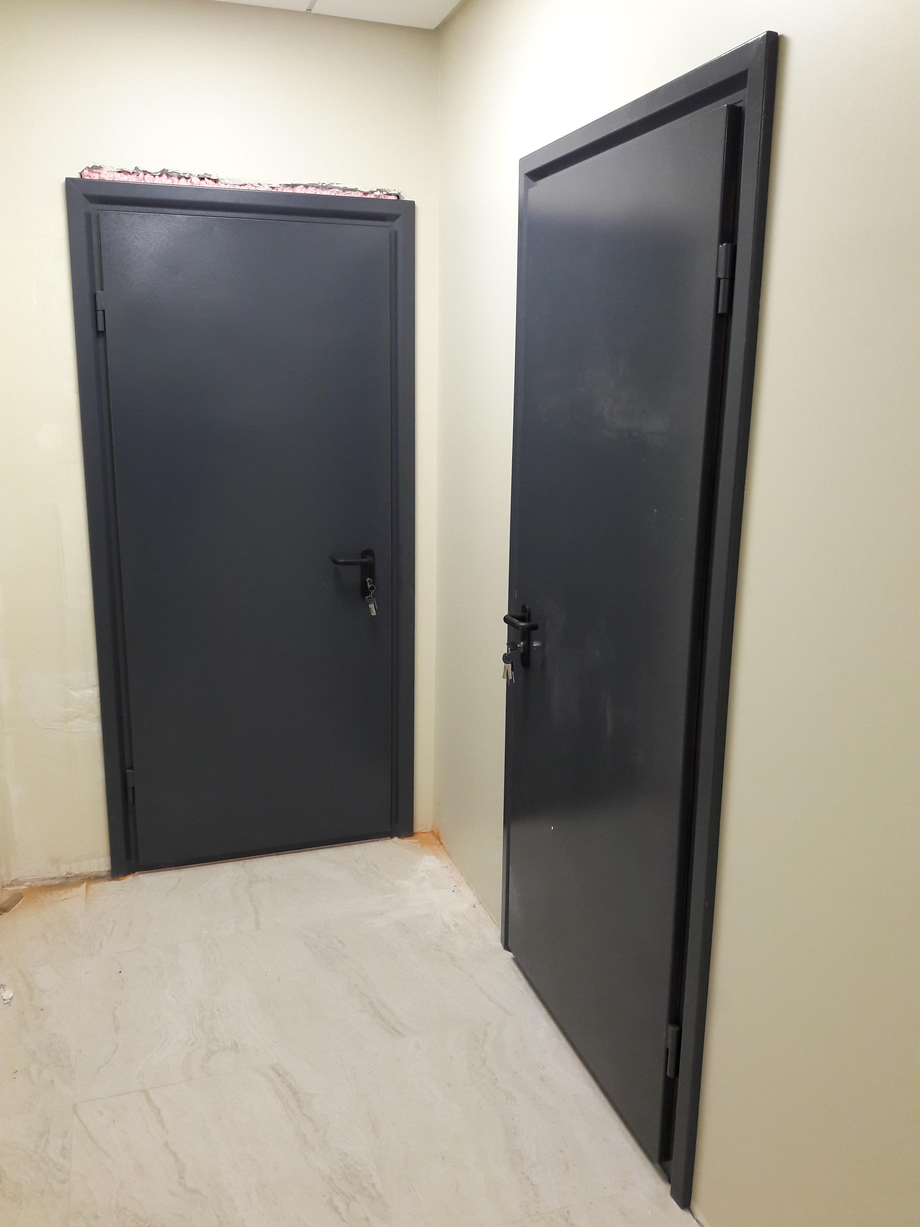Фото Установка противопожарных дверей в Бизнес-центре Paladis