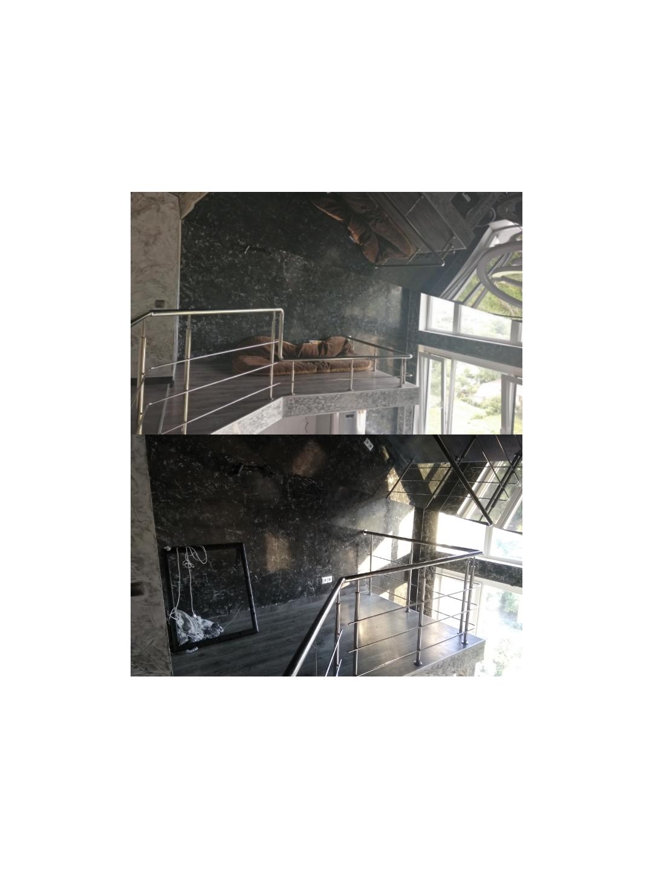 Фото Переделать перила из нержавейки на балконе.