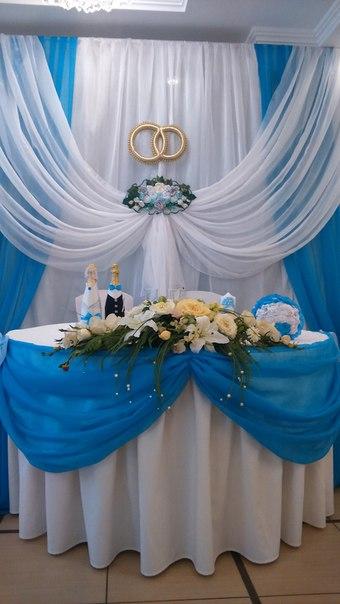 Фото Оформление зала тканями на свадьбу, день рождения, праздники 1