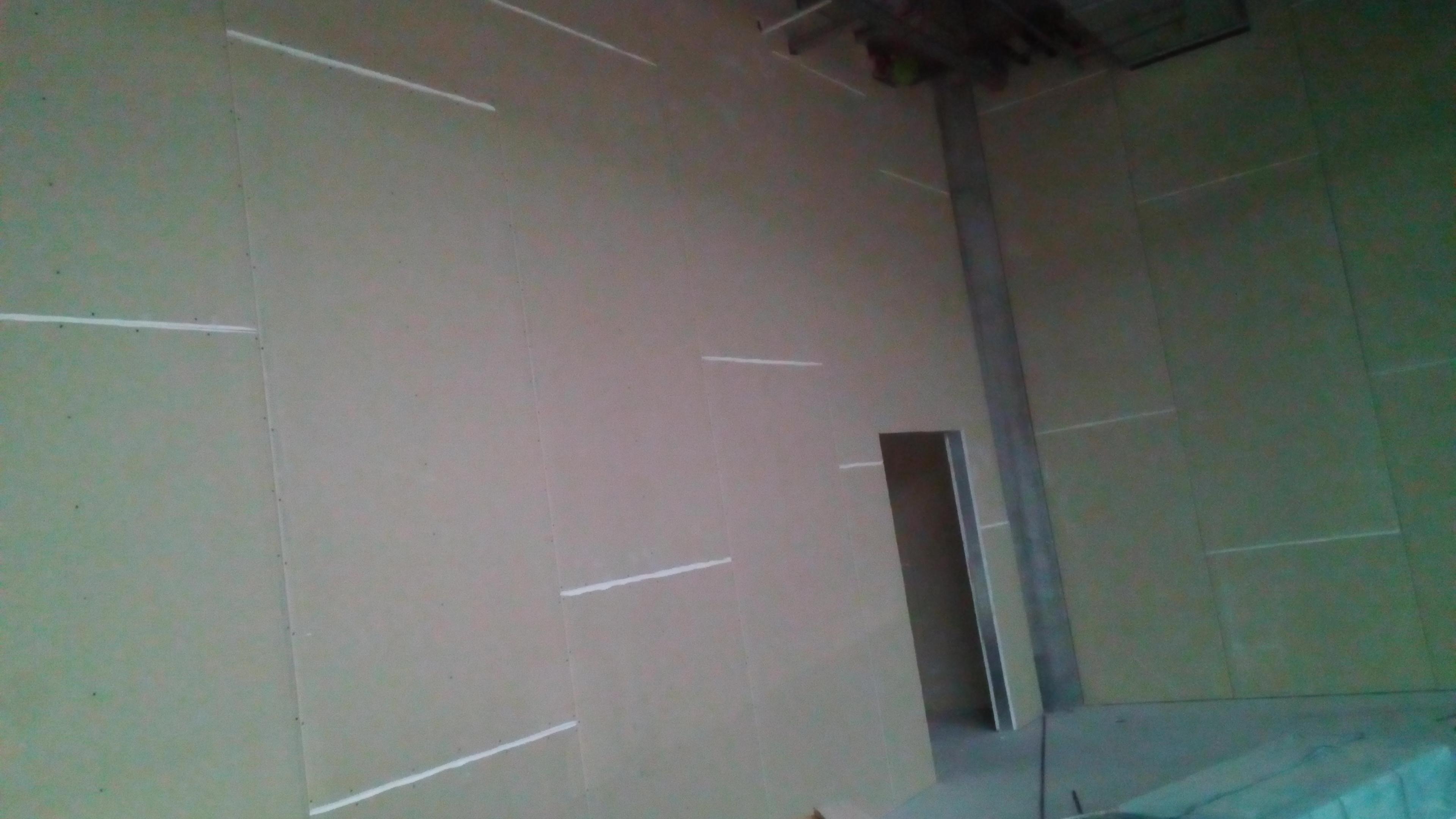 Фото Перегородки из гипсокартона с проёмом под дверь