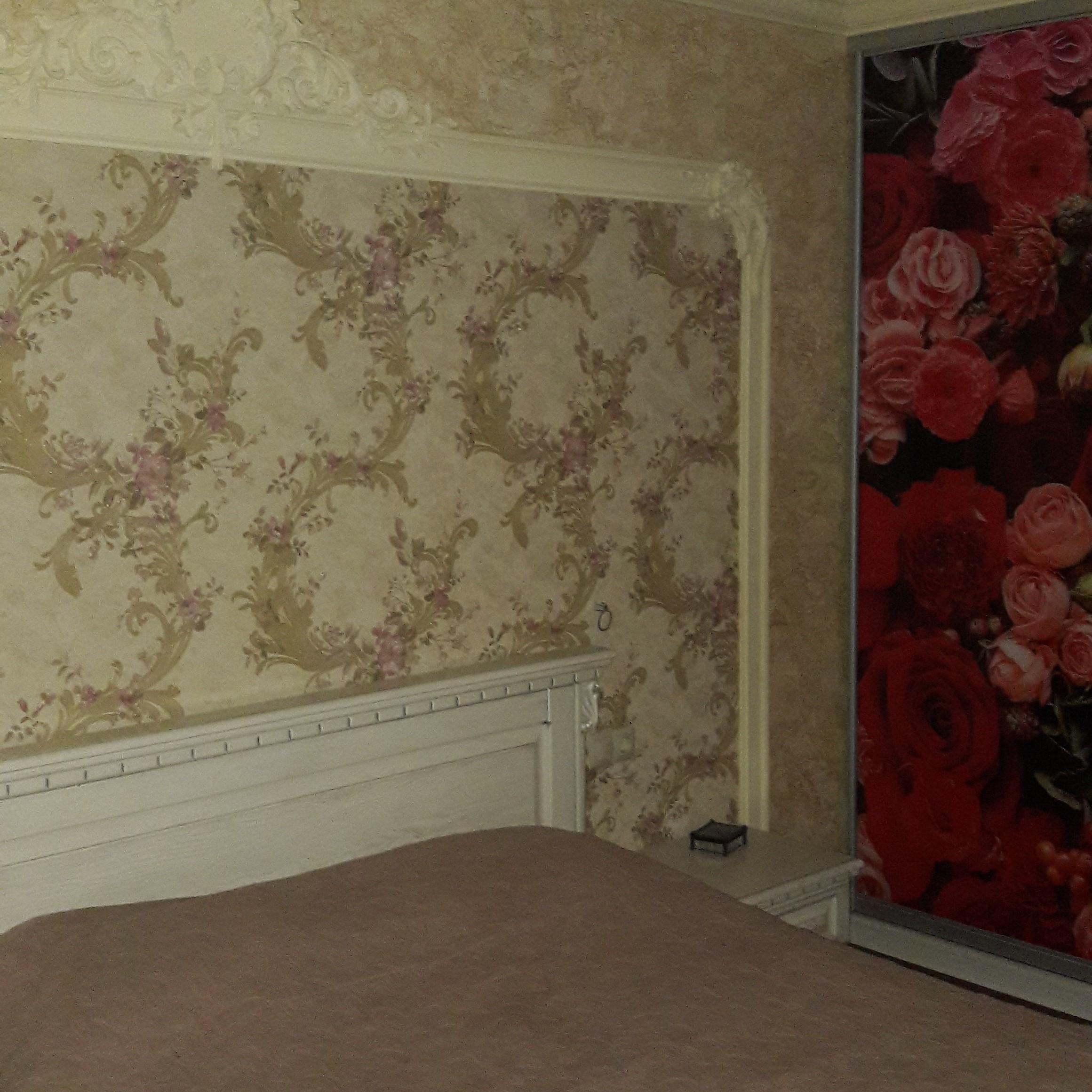 Фото Ремонт спальни, установка шкафа купе