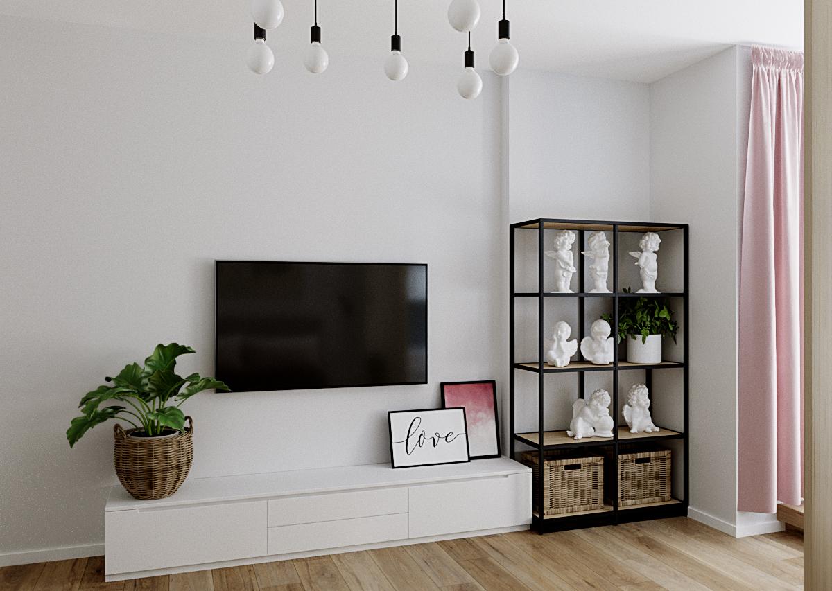 Фото Дизайн комнаты для девушки в скандинавском стиле.