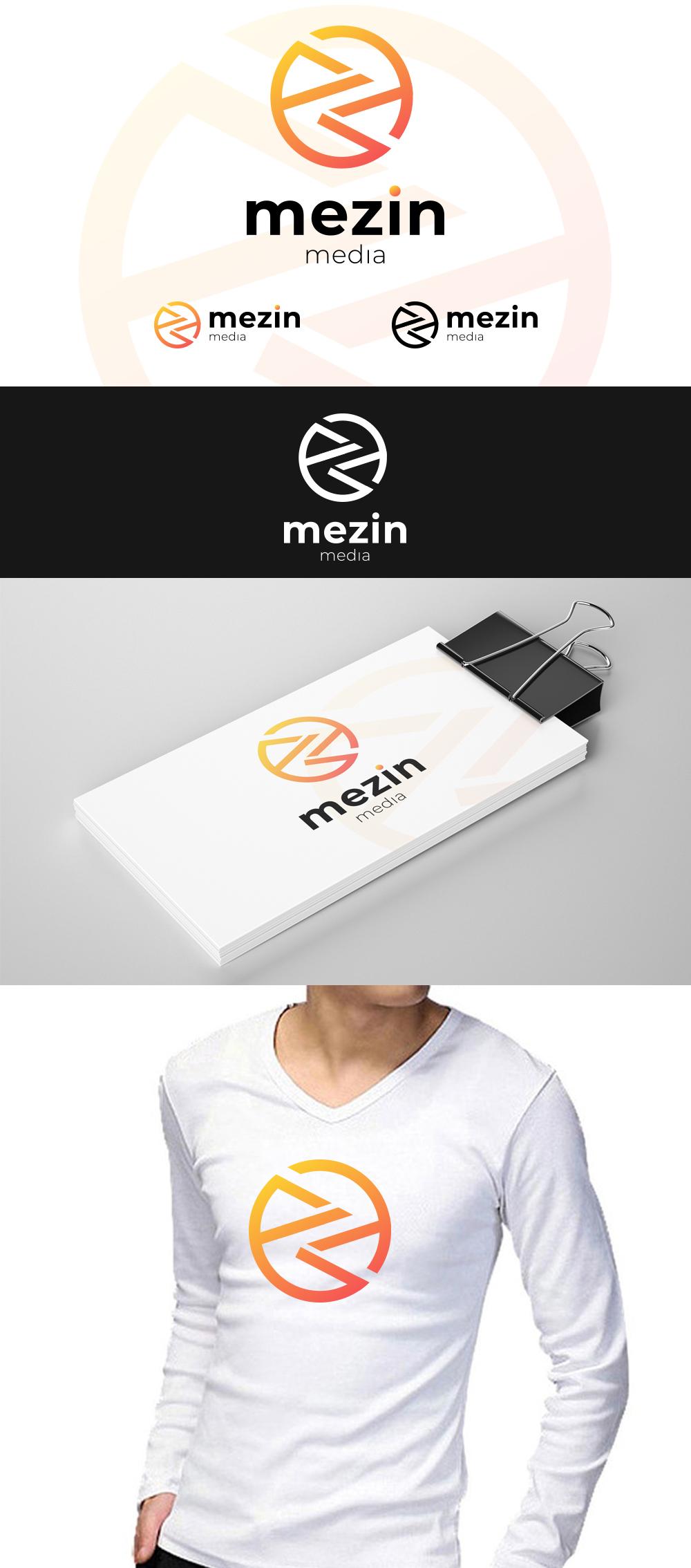 """Фото Разработка логотипа """"Мезин-Медиа"""""""