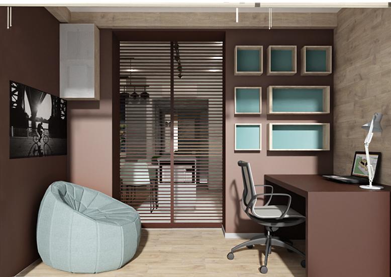 Фото 3-х комнатная квартира. Рабочая зона /лоджия/.