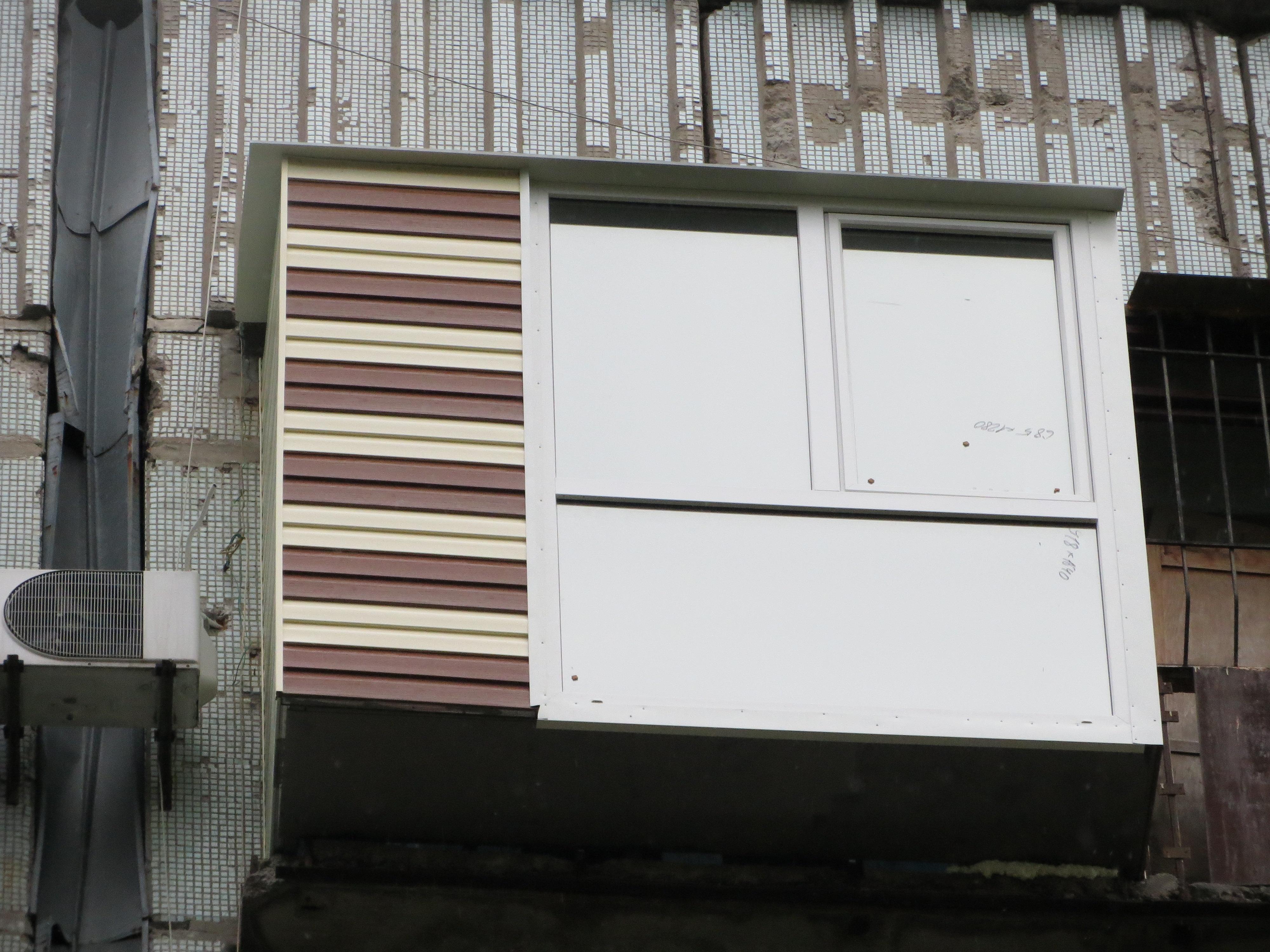 Фото Лоджия с расширением и французским остеклением