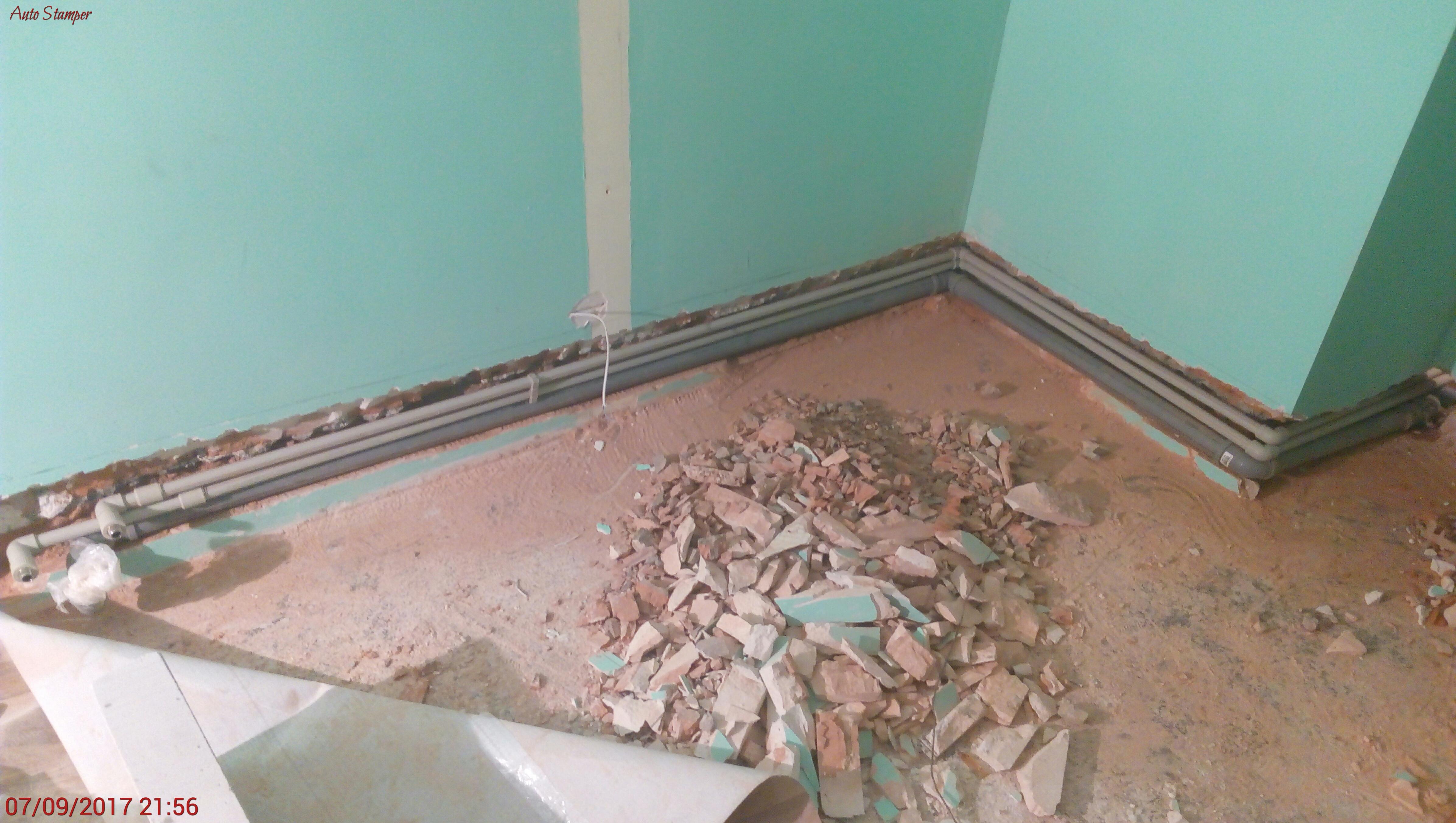 Фото Монтаж канализации, холодного и горячего водоснабжения в другое помещение.