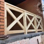 Ограждения из дерева для террас и балконов с монтажом под ключ от производителя, Одесса