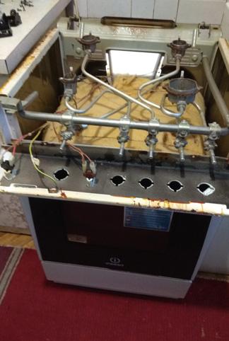 Фото Газовая плита Индезит. Не работает духовой шкаф и не работает одна конфорка. Время выполнения данных работ 1-1.5 чася