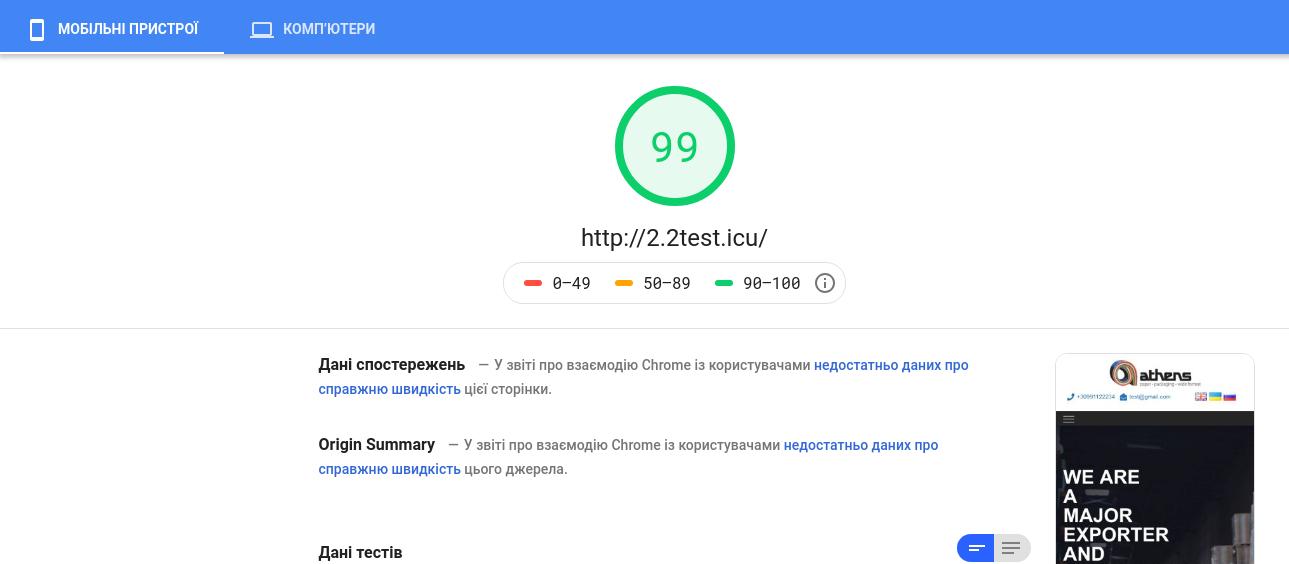 Фото Оптимизация сайта под поисковые системы: googe page speed: 99