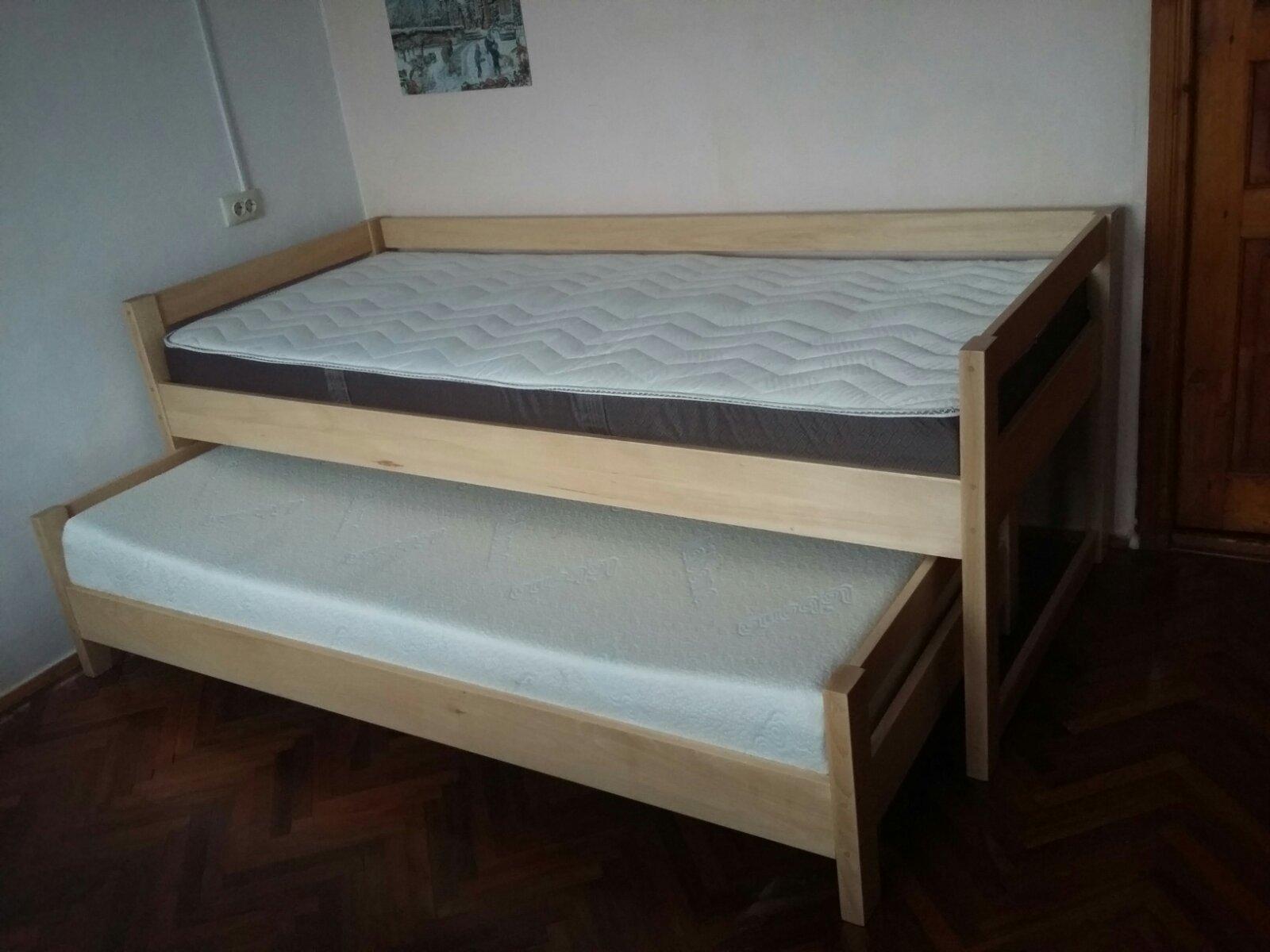 Фото Кровать буковая для двух детей