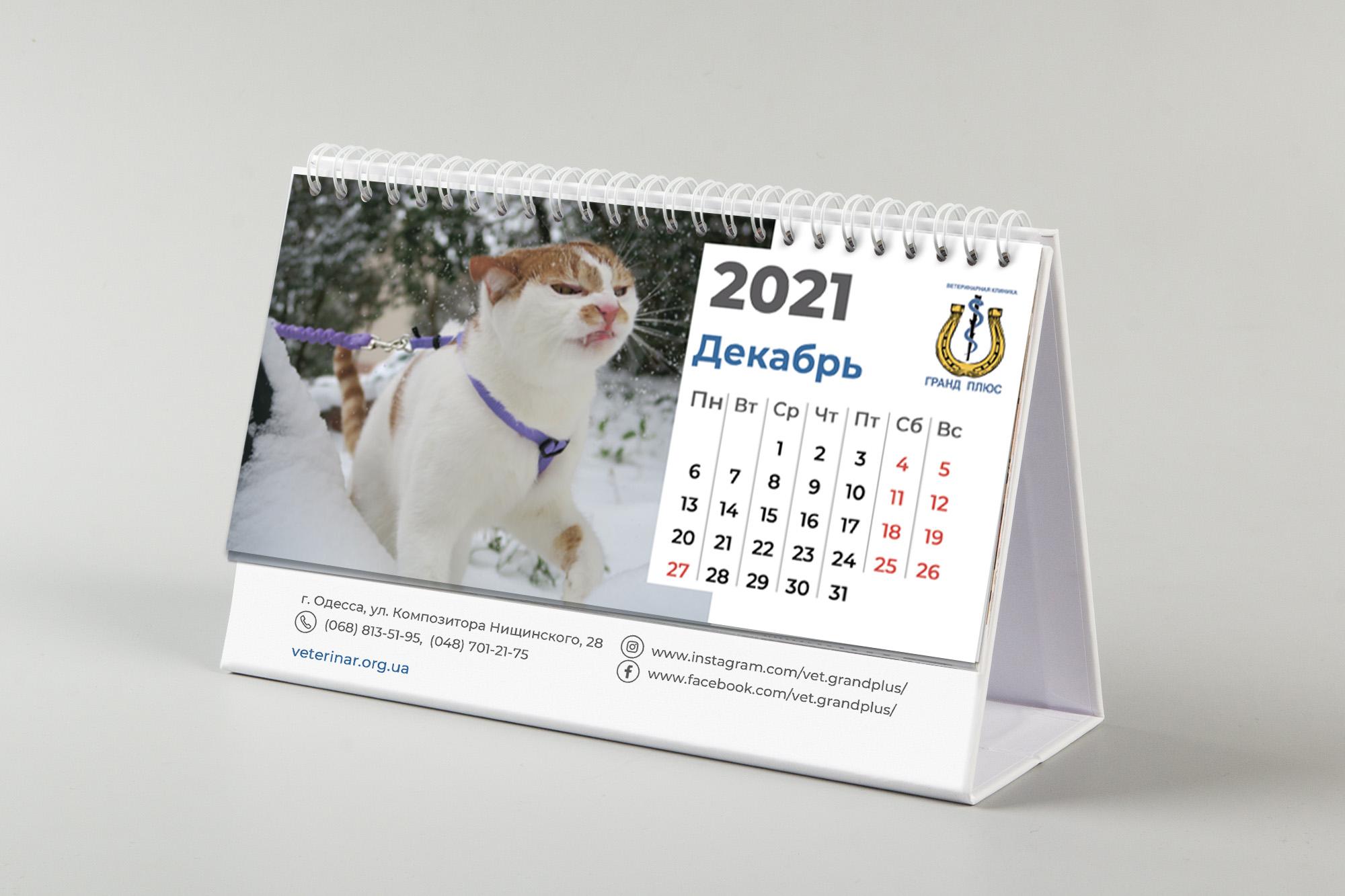 Фото Календарь для ветклиники