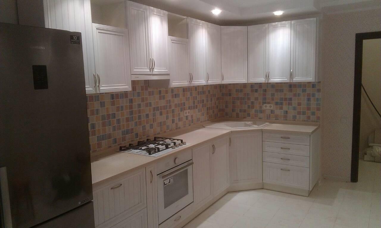 Фото Кухня с пленочным рамочным фасадом, срок изготовления 1 месяц