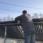 Установка солнечного коллектора (гелиосистема)