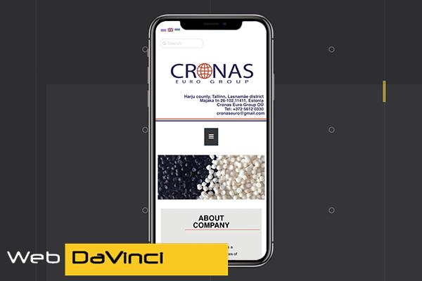 """Фото Создание корпоративного сайта """"Cronas"""" (Мобильная версия)"""